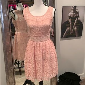 Dresses & Skirts - Adorable Pink Lace Dress